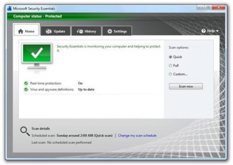 Ya se puede descargar la versión beta de Microsoft Security Essentials 2