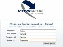 RapidShare está regalando cuentas premium