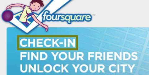 """Foursquare trata de registrar el botón """"Check-In"""""""