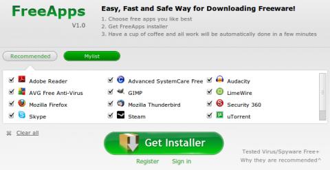 FreeApps: instala muchas aplicaciones de una sola vez