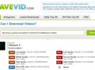 Savevid, o cómo descargar vídeos de Internet