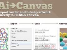 Plugin para Illustrator que te permitirá exportar a HTML5 canvas
