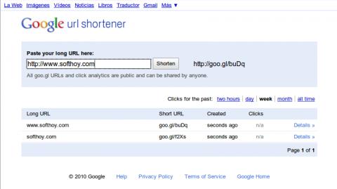 Goo.gl ya tiene su propio sitio web
