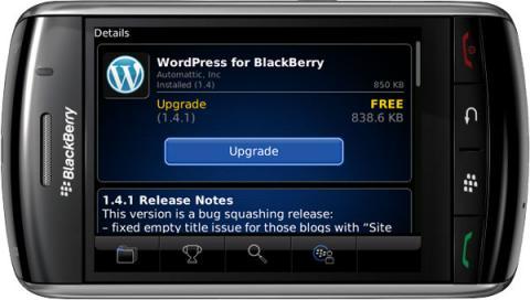 Ya disponible WordPress para Blackberry 1.4.4