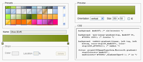 Herramienta online para generar gradientes en CSS3