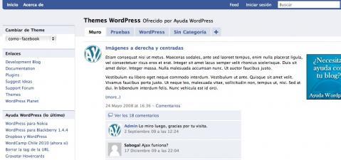 Theme Facebook para WordPress