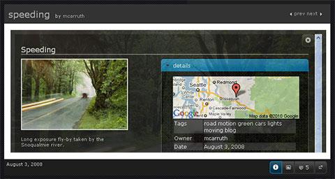 Flogr, galería de imágenes procedentes de Flickr