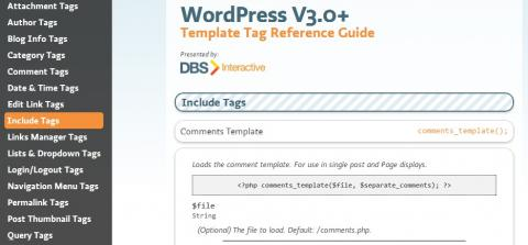 Guía de referencia para los template tags de WordPress