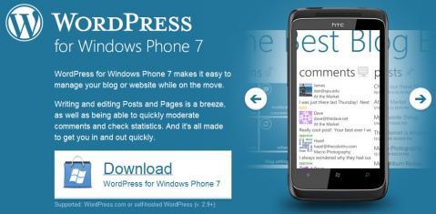 Ya está aquí WordPress para Windows Phone 7