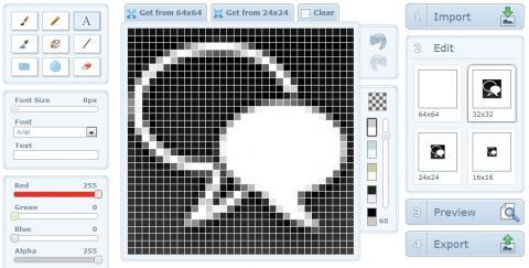 X-Icon Editor, herramienta online para la edición de iconos
