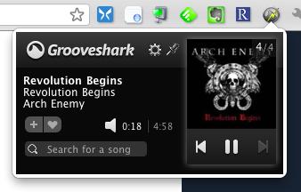 sharkZapper: el control remoto de Chrome para GrooveShark