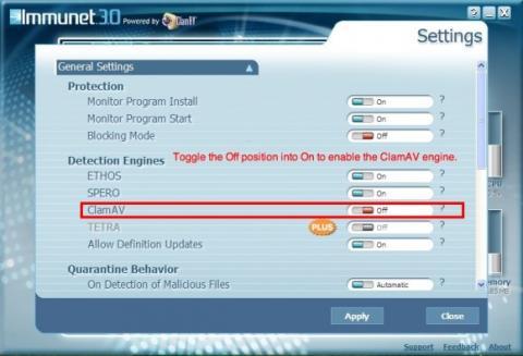 Immunet 3.0 ahora con ClamAV integrado