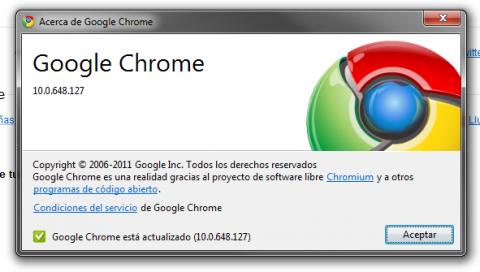 Publicada actualización de Chrome, van por la 10