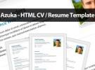 Azuka: plantilla HTML5 para tu currículum