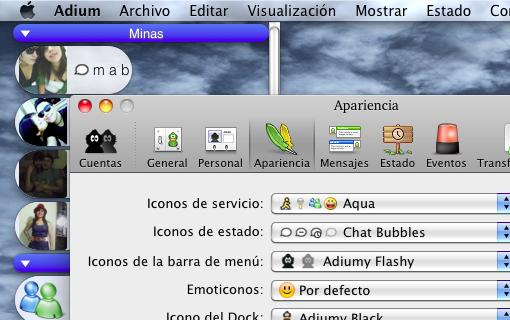Adium en Mac OS X Snow Leopard