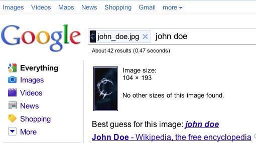Búsqueda de imágenes similares de Google