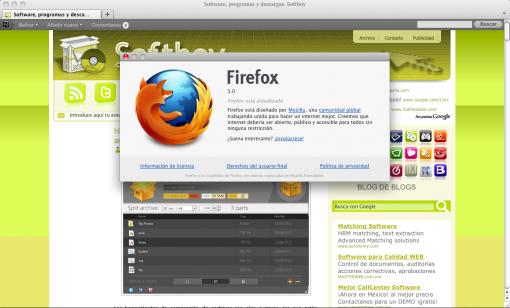 Firefox 5 en Mac OS X Snow Leopard