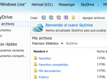 SkyDrive se actualiza a HTML5