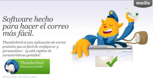 Thunderbird 5.0 cliente de correo electrónico de Mozilla