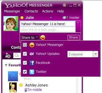 Yahoo Messenger 11 cliente social de mensajería instantánea