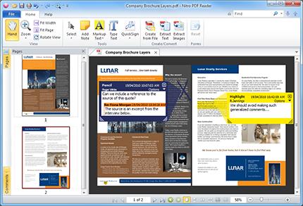 Lector de PDF y más Nitro PDF