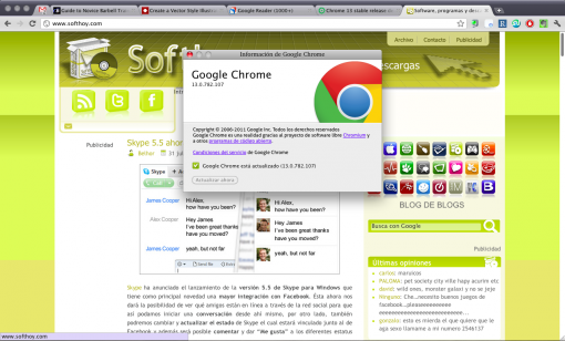 Google Chrome 13 con Instant pages y Print Preview