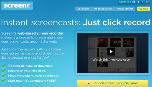 Screenr: screencast fácil