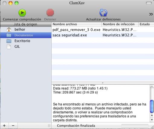 ClamXav: antivirus libre para Mac OS X