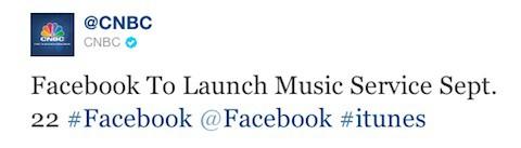Facebook lanzará su propio servicio de música el próximo 22 de septiembre