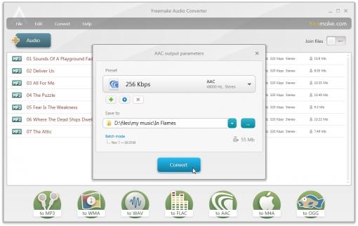 Freemake Audio Converter, convierte audio directamente al formato ideal para iPod, iPhone, PSP y más