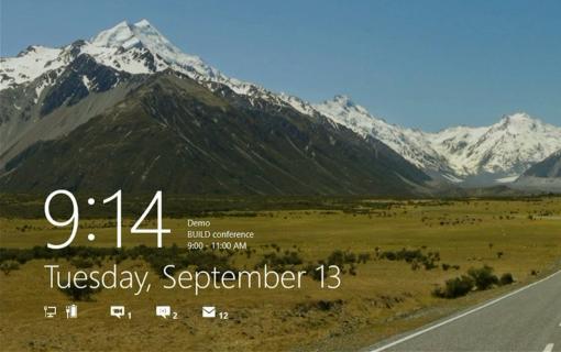 Pantalla de bloqueo de Windows 8