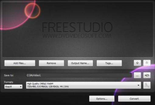 Free WebM Video Converter hace las cosas más fáciles para convertir vídeos