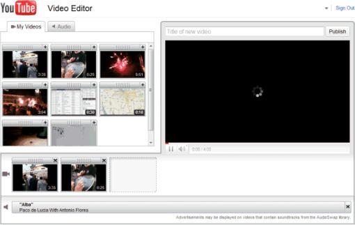 YouTube ofrece edición de vídeos desde el mismo navegador