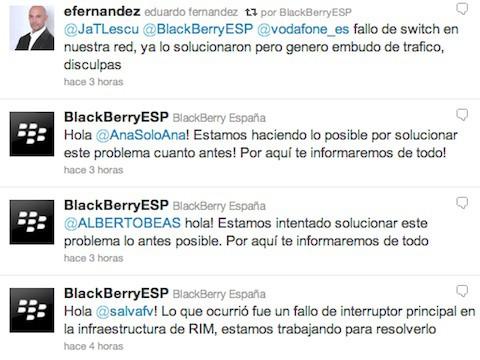 """La caída de servicio de las BlackBerry es culpa de un """"fallo en el interruptor general"""""""