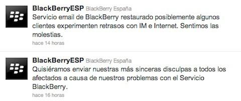 Los usuarios de BlackBerry (casi) recuperan la conectividad después de 12 horas [Actualizado]