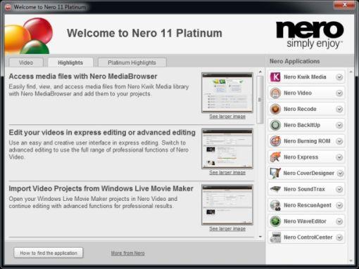 Lanzada la versión 11 de Nero