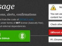 Incluye notificaciones en tu web con jsMessage