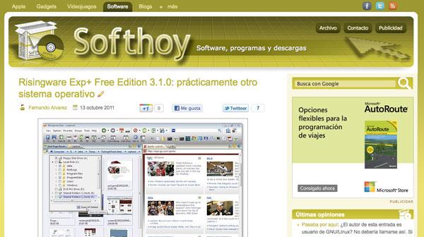 Nuevo diseño Softhoy