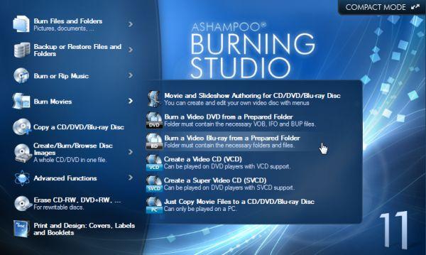 Download Ashampoo Burning Studio 11 Free the trial version 2012 1 link