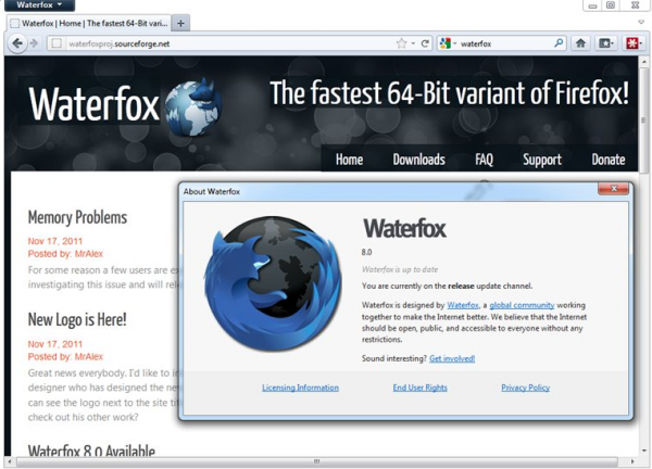 Waterfox, un Firefox de 64 bits