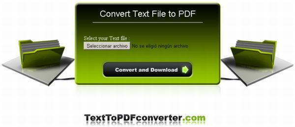 Convierte en línea cualquier tipo de texto en PDF