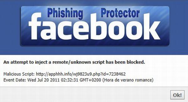 Facebook Phishing Protector ayuda a mantener tu privacidad