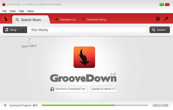 Groovedown: descarga fácilmente la música de Grooveshark