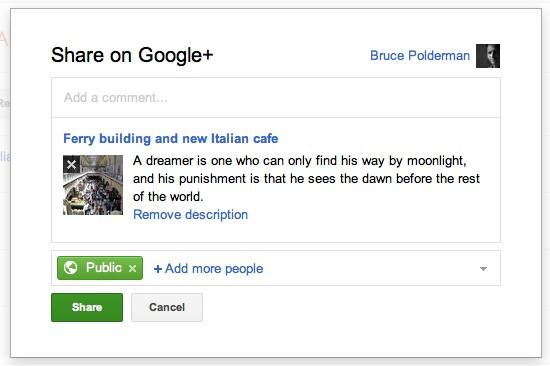 Envía fácilmente tus posts de Blogger a Google+