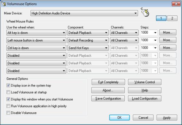 Volumouse2: controla el volumen con el ratón
