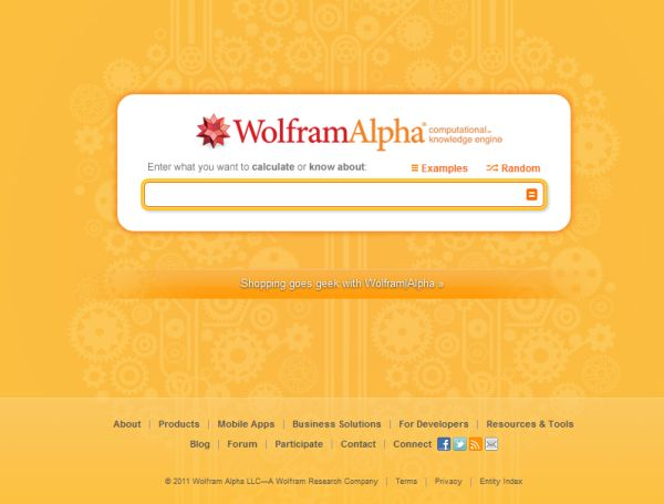 WolframAlpha te responde lo que quieras