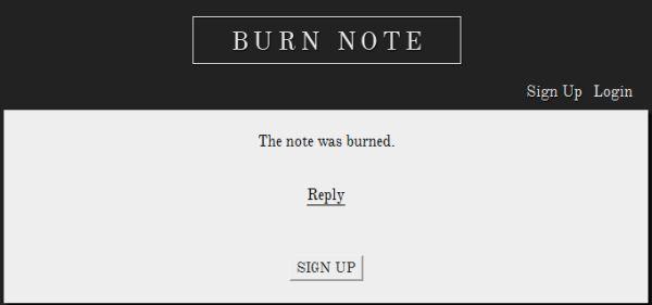 Burn Note y sus mensajes autodestructivos