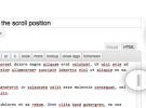Manten la posición del scroll del editor de WordPress