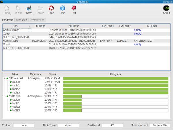Ophcrack LiveCD: recupera las contraseñas perdidas en Windows, Mac y Linux