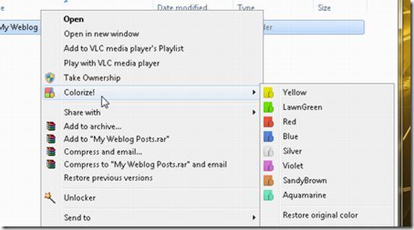 Folder Colorizer: cambia de color las carpetas